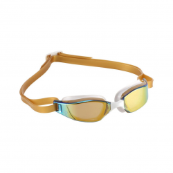 Michael Phelps Xceed Swimming Goggles Gold White Mirrored Lenses