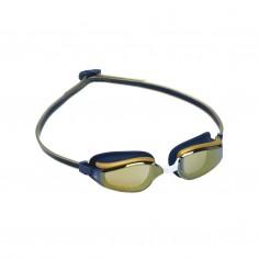 Aqua Sphere Fastlane Swimming Goggles Blue Gold Mirrored Lenses