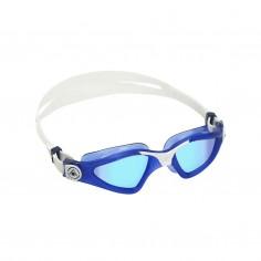 Aqua Sphere Kayenne Swimming Goggles White Blue Mirrored Lenses