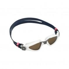 Aqua Sphere Kayenne Small Swimming Goggles Black White Brown Polarized Lenses