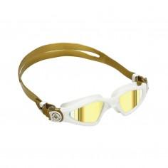 Gafas de natación Aqua Sphere Kayenne Small Blanco Dorado con lentes espejadas Dorado