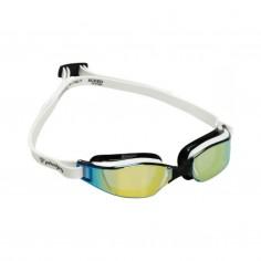 Gafas de natación Phelps Xceed Negro Blanco Dorado Lentes espejadas