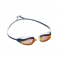 Aqua Sphere Fastlane Swimming Goggles Black Blue Red Mirrored Lenses