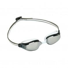 Aqua Sphere Fastlane Swimming Goggles White Gray Silver Mirror Lenses
