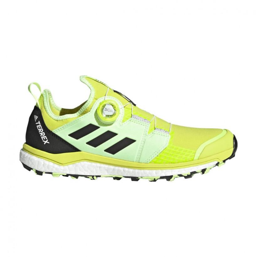 Adidas Terrex Agravic BOA Trail Running Shoes Yellow Black SS21