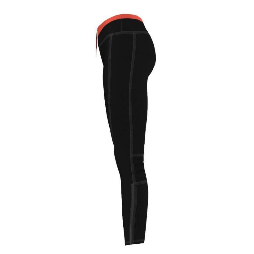 Malla Adidas mujer negro rojo larga