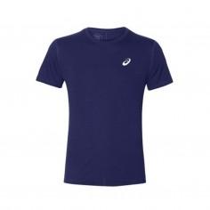 ASICS Silver Short Sleeve T-Shirt Dark Blue