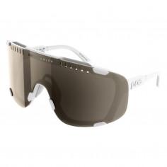 POC Devour White Glasses Brown Silver lenses