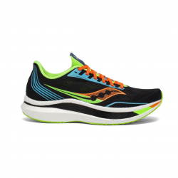 Saucony Endorphin Pro Running Shoes Black Green Orange SS21