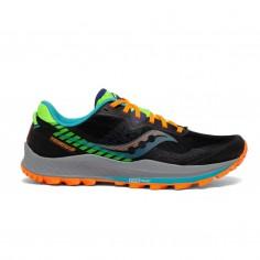Saucony Peregrine 11 Running Shoes Black Orange Green SS21