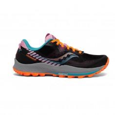 Saucony Peregrine 11 Black Orange Purple SS21 Women's Running Shoes