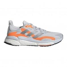 Zapatillas Adidas Solar Boost 3 Gris Naranja Blanco SS21
