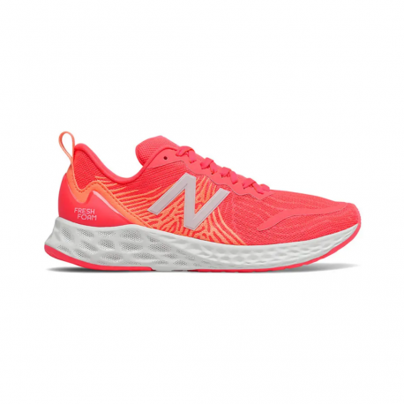 New Balance Fresh Foam Tempo v1 Performance Shoes Red Orange Gray Women