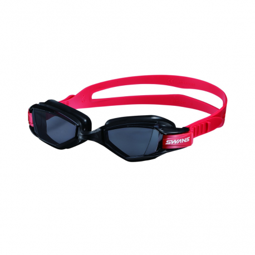 Gafas de natación Swans - Outdoor Seven. Color negro/rojo.