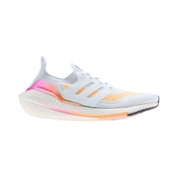 Adidas Ultra Boost 21 White Orange SS21 Women's Running Shoes