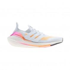 Zapatillas Adidas Ultra Boost 21 Blanco Naranja SS21 Mujer