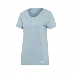 Camiseta Adidas TEE W running Mujer Azul-Gris
