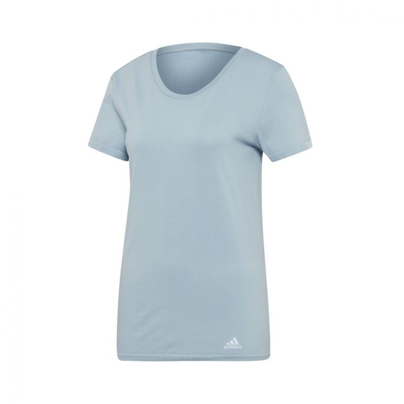 Camiseta Adidas TEE W running Mujer Azul-Gris PV19