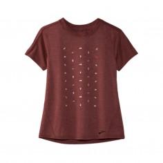 Brooks Distance Graphic T-Shirt Short Sleeve Brown Woman