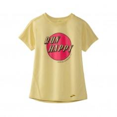 Brooks Distance Graphic T-Shirt Short Sleeve Yellow Woman