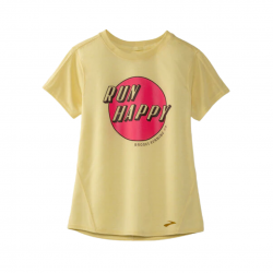 Camiseta Brooks Distance Graphic Manga corta Amarillo Mujer