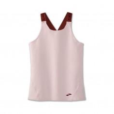 Brooks Pick up Sleeveless T-Shirt Light Brown Woman