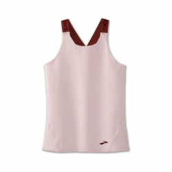 Camiseta Brooks Pick up Sin mangas Marrón claro Mujer