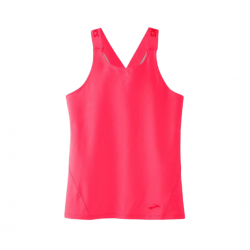 Camiseta Brooks Pick up Sin mangas Rosa Mujer