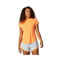 New Balance Q Speed Fuel Jacquard Short Sleeve Orange Woman T-Shirt