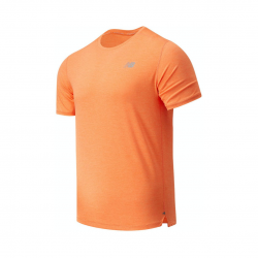 New Balance Impact Run Short Sleeve Orange T-Shirt