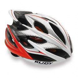 Casco Rudy Project Windmax Blanco Rojo Fluo
