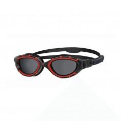 Zoggs Predator Flex Polarized Swimming Goggles Black Red