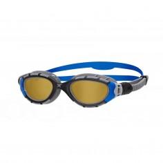 Zoggs Predator Flex Polarized Ultra Fit Swimming Goggles Gray Blue