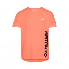 Asics Future Tokyo Short Sleeve Orange Black T-Shirt