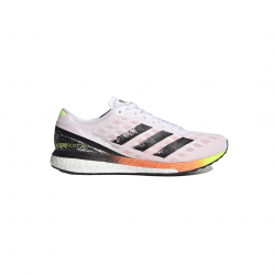 Zapatillas Adidas Adizero Boston 9 Blanco Negro Naranja SS21