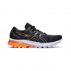 Asics GT-2000 9 Black White Orange SS21 Women's Running Shoes