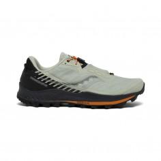 Saucony Peregrine 11 ST Shoes Light Gray Black