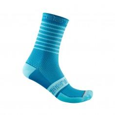 Calcetines Castelli Superleggera 12 Azul Mujer