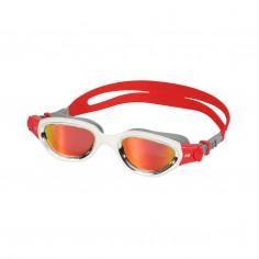 Zone3 Venator-X Swimming Goggles Gray White with Red Mirrored Lenses