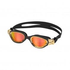Zone3 Venator-X Swimming Goggles Black Gold with Orange Mirrored Lenses