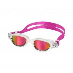 Zone3 Venator-X Swim Goggles White Silver with Pink Mirrored Lenses