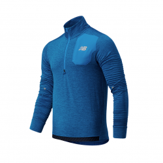 New Balance Heat Grid Half Zip Long Sleeve T-Shirt