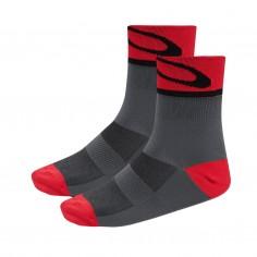 Calcetines Oakley 3.0 Gris/Rojo