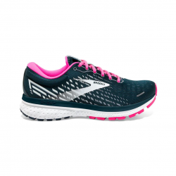 Brooks Ghost 13 Teal Pink White SS21 Women's Running Shoes