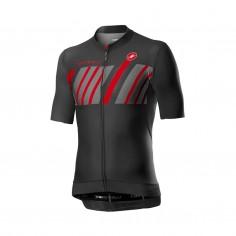 Castelli Hors Categorie Short Sleeve Jersey Dark gray Red