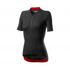 Castelli Anima 3 Short Sleeve Black Red Woman Jersey