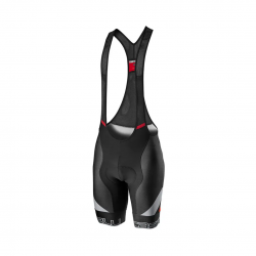 Castelli Competizione Kit Bib Shorts Black Silver Red
