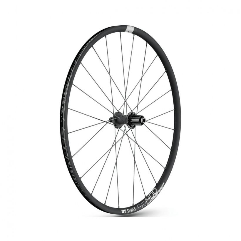 DT Swiss PR 1400 Dicut DB 21 12/142 MM SHIMANO Graphit front wheel