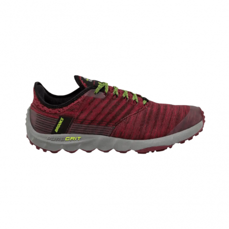 Brooks PureGrit 8 Trail Shoes Fluorescent Red Gray AW19 Man