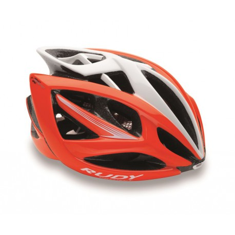 Casco Rudy Project Airstorm Rojo Fluo/Blanco Brillante